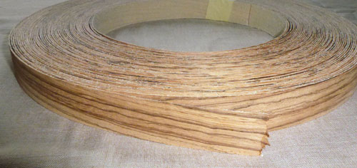 Zebrano Pre Glued Iron On Wood Veneer Edging Tape Edge