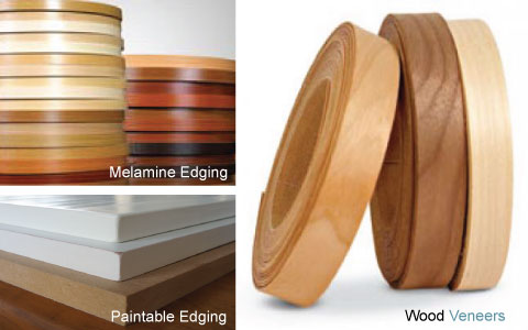 Veneer melamine paintable edging tape iron on edge for Abs trimming kitchen cabinets