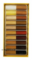 Konig Soft Wax Stick Set 20 x 4cm Wood Colours