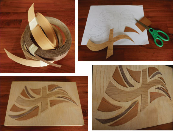 wood veneer collage
