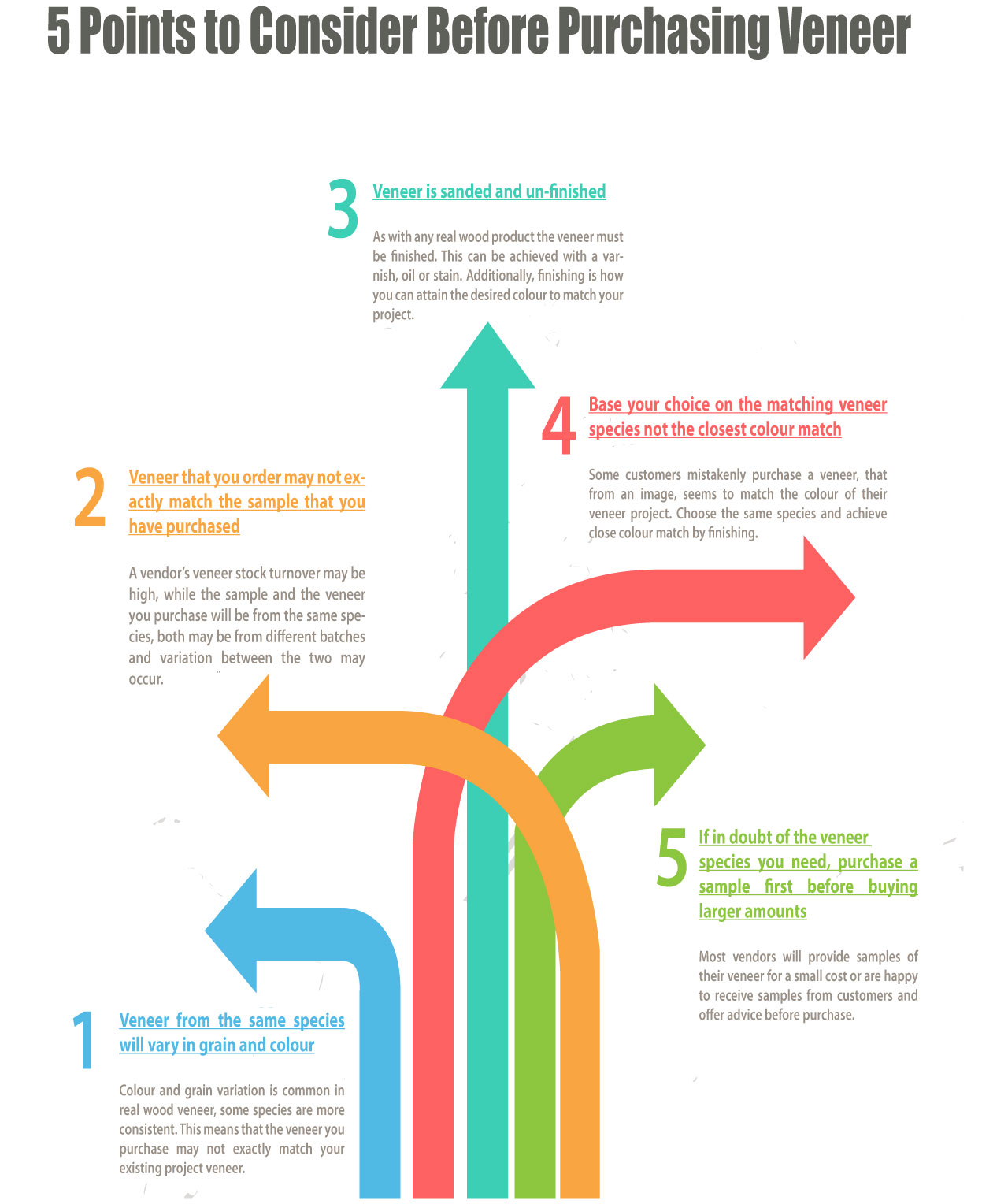 5 points to consider before purchasing veneer infographic