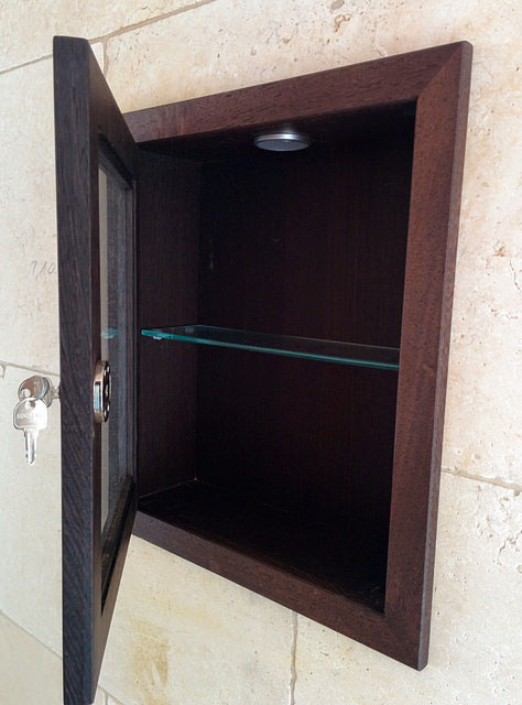 Wenge Recessed Cabinets